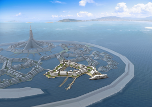 Illustration des Seasteading, Quelle: DeltaSync, NL